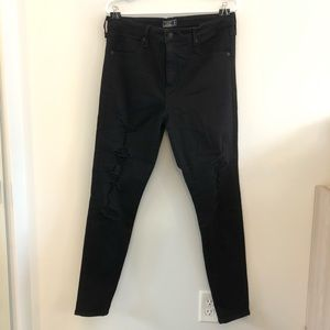 Abercrombie and Fitch High Rise Ripped Jeans